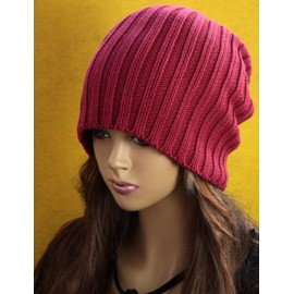 Hippie Cone Shaped Top Knitted Beanie Hat in Pure Color For Women