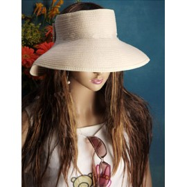 Graceful Open Top Sun Hat with Bowknot Adornment For Women