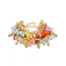 Attractive Multicolor Bead Embellished Chain Bracelets