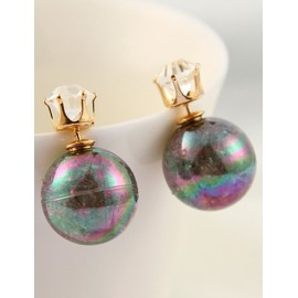 Youthful Glitter Colorful Candy Design Earrings