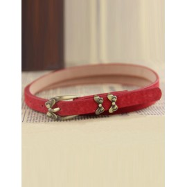 Delicate Bowknot Embellished Belt with Pin Buckle For Women