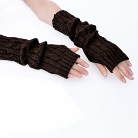 Women's Arm Warmers Long Gloves Hand Knitted Half Warmer Glove For Women New Arrival