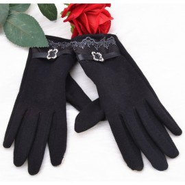 Hotsale New Women's Winter Mittens Full Finger Touch Screen Gloves With Lace