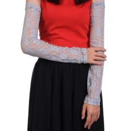 Hot Fashion Women Protective Stretchy Long Sleeve Floral Lace Solid Driving Outdoor Arm Sleeve