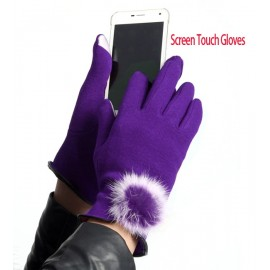 Women's One Pair Fashion Lovely Cute Touch Screen Cotton Winter Warm Gloves Sexy Hot!!!