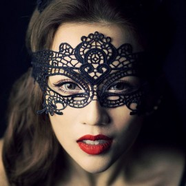 New Fashion Sexy Lace Veil Halloween Masquerade Dance Half Face Mask Black Cutout Paintball Party Masks