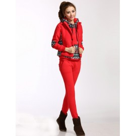 Ethnic Trendy Patterns Vest and Hoody and Pants For Women Women S-XL