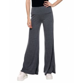 Casual Women High Waist Stretch Wide Leg Long Pants Solid Sport Yoga Loose Trousers
