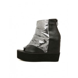 Fashion Peep Toe Shoes with Hidden Wedge Heel For Women Size:35-39